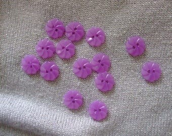 x 10 flower buttons purple twisted clear 12 mm sewing Scrapbooking