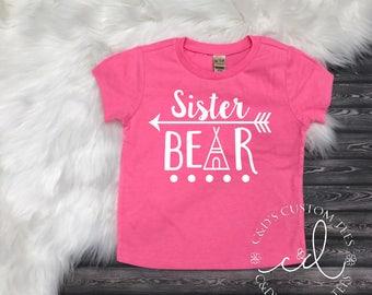Big Sister Shirt - Sister Bear Shirt - Sister Arrow Shirt - Big Sister Shirt - Promoted To Big Sister Shirt - Aztec Sister