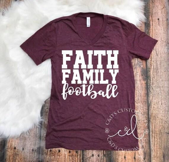 Faith Family Football Shirt Fall Shirt Fall Football Shirt
