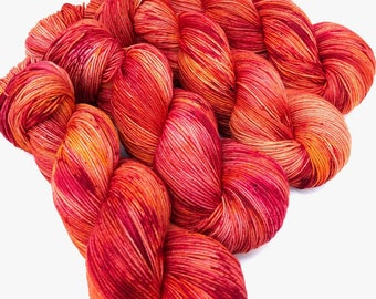 Atsila- Hand dyed yarn, sock weight, Superwash Merino, 463 yards, speckled yarn