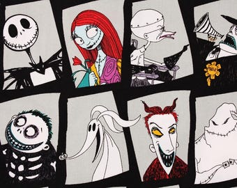 The Nightmare Before Christmas Fabric Camelot Fabrics by the Half Yard