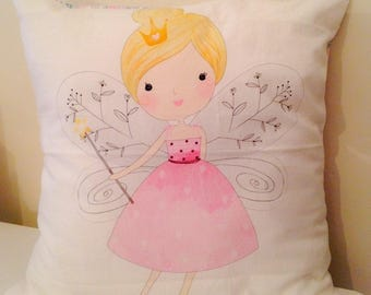 Fairy and liberty pink Cushion cover