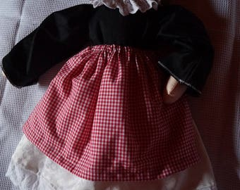 lovely short haired cloth doll