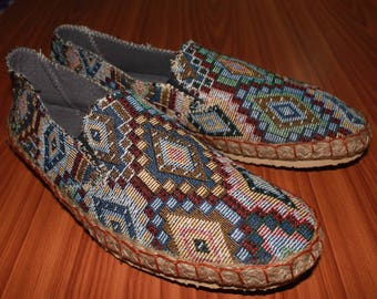 Slippers Traditional Hill tribe Fabric Size 42