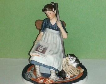 1987 GORHAM Norman Rockwell * Saturday Evening Post CINDERELLA Cover * Porcelain Figurine ~ Limited Eidtion #624