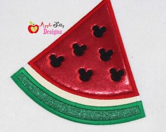 Watermelon Cut Applique Design
