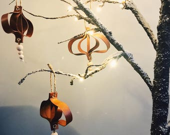 Leather Christmas tree decoration