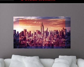 Empire State Building Removable Wall Mural, New York City, New York Wall Decal, Wall Art, Peel and Stick Wall