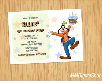 Goofy Birthday Invitation Printable