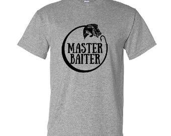 Husband Gift, Christmas Gifts, For Dad, Master Baiter Fishing Shirt, Men's Shirt, Fishing Gifts, Husband Shirt, Tshirt, Funny Fishing Saying