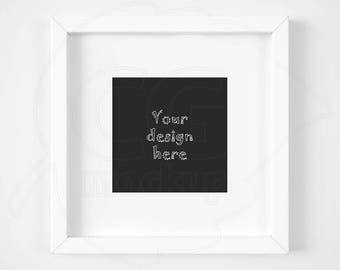 Anysize mock up, Square frame mockup, Matted white frame, Artwork background, Product mockup, Minimal frame, Styled stock, Instant download
