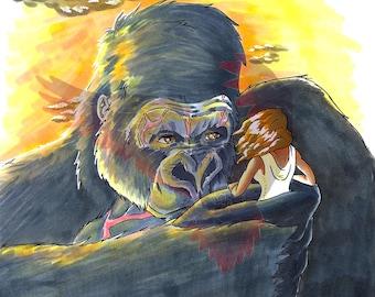 Inktober 2017 - King Kong Print
