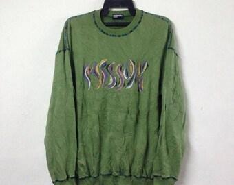 ON SALE 10% VINTAGE Missoni sweatshirt nice design