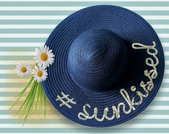 Sunkissed Floppy Hat | Sequin Floppy Hat | Sunkissed Sun Hat | Sequin Beach Hat | Bachelorette Party Hat | Gifts for Beach Vacation