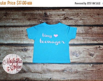 ON SALE Tiny Teenager Heart, Toddler T-Shirt in 11 Different Colors in Sizes 2T-5/6