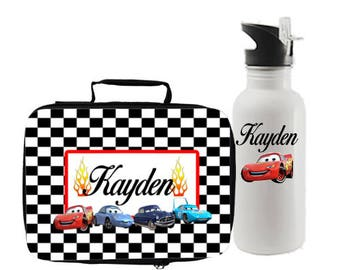 Cars Lunch Box and Water Bottle