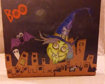 City Witch Halloween Hanging Decoration.