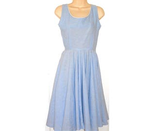 Vintage  1940's Blue & White Gingham Sun Dress