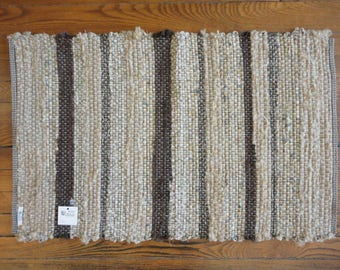 Brown Stripe Rag Rug by Ability Weavers 22 x 35 inches #R444