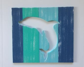 Dolphin Beach Wall Art Coastal Decor