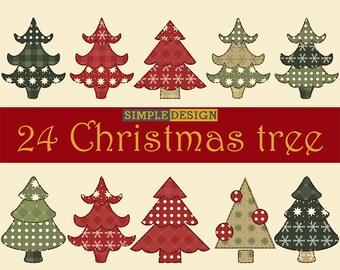 Christmas tree digital,  Christmas decor, Christmas ornament, Holiday decor, Vintage christmas, Christmas clipart, Christmas