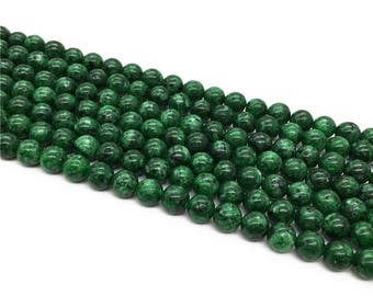 1Full Strand Green Ruby zoisite Round Beads , 8mm 10mm Wholesale Gemstone For Jewelry Making