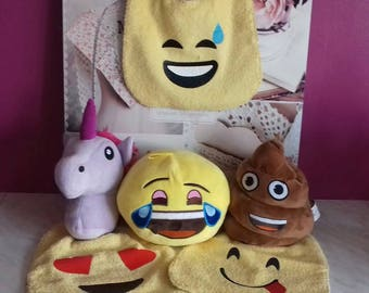 Set of 3 bibs EMOJI