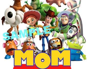 Toy Story Birthday Iron On Shirt Transfer, Disney Jessie Woody Buzz Lightyear tshirt or clip art printable, Mom of the Birthday Boy