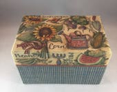 Harvest Bounty Recipe Box - 3x5 Recipe Box - Vintage Recipe Box - Sunflower Recipe Box - Vegetable Recipe Box - Main Street Press