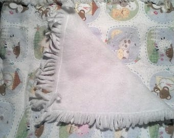 Framed animals baby blanket