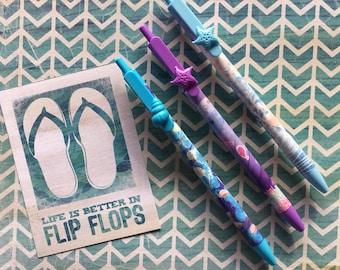 Sea Shell Ballpoint Pen - Blue / Purple