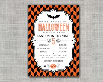 Halloween Invitation / Halloween Party / Halloween Birthday
