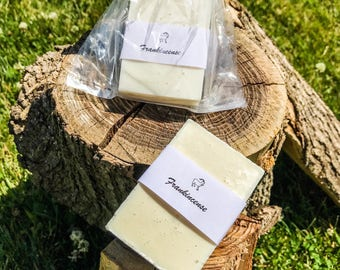 Frankincense soap bar, Goats milk soap, essential oils, handmade soap, sensitive skin, gifts for her