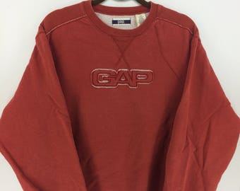 Vintage 90's GAP Sport Classic Design Skate Sweat Shirt Sweater Varsity Jacket Size XL #A780