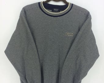 Polo Club Classic Vintage Limited Design Skate Sweat Shirt Sweater Varsity Jacket Size M #A850