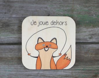 "Symbol ""I play outside"", wooden - Daily Routine - 3 to 5 years"