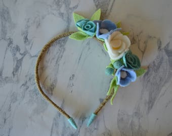 Blue Bouquet Floral Headband