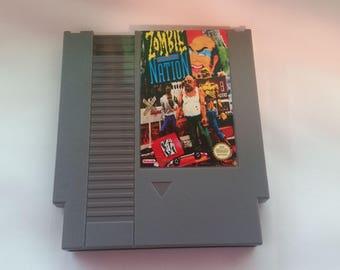 Nintendo NES Zombie Nation Reproduction w/ free dust sleeve