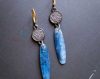 Pave Kyanite Earrings