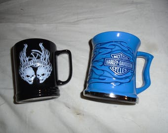 Pair of Harley-Davidson Coffee Steins
