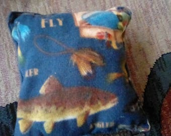 Fishing fleece pillow