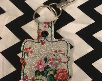 Floral key fob/purse charm