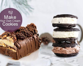 MAKE YOUR OWN Cream Cookies | Fancy cakes | Ganache Chocolate filling | Baking | Chocolate Making | Creamy Chocolate Fudge