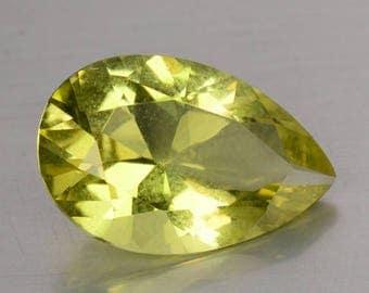 Beautiful 3.40 Cts  Natural Unheated Lemon Quartz Pear 13.9 x 5.8 x 1.2 mm  Loose Gemstones