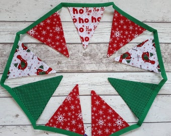 Christmas bunting, fireplace bunting, christmas garland, festive bunting, robin bunting, christmas decor, fireside garland, bunting flags