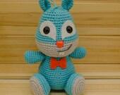 Amigurumi Squirrel in Blue and Grey