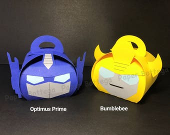 Transformers Party Decor Favor Boxes Small