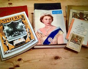 Vintage Royal Memorabilia - Large Collection - 1902 - 1950's - QEII Coronation, etc...