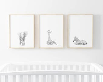 Nursery Wall Prints, Black And White Nursery Prints, Nursery Wall Art,  Nursery Art
