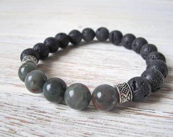 Gift for Him, Men's Diffuser Bracelet, Father's Day Gift, Men's Jewelry, Aromatherapy Bracelet, Essential Oil Bracelet, FoxAndBearEssentials